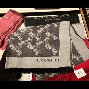 Coach scarf black